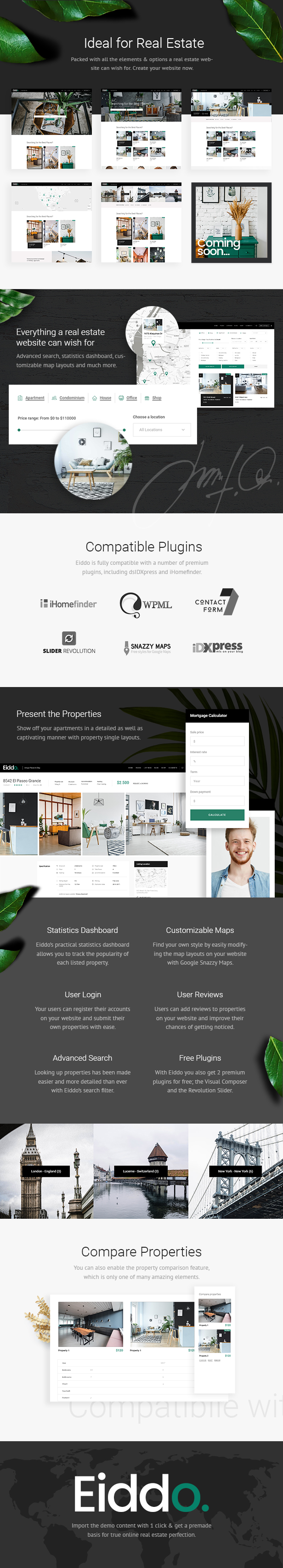 Eiddo – A Theme for Real Estate Agencies and Realtors (Real Estate)